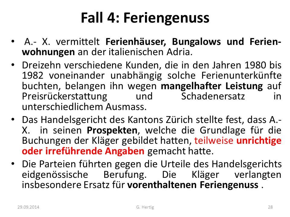Fall 4: Feriengenuss A.- X. vermittelt Ferienhäuser, Bungalows und Ferien-wohnungen an der italienischen Adria.
