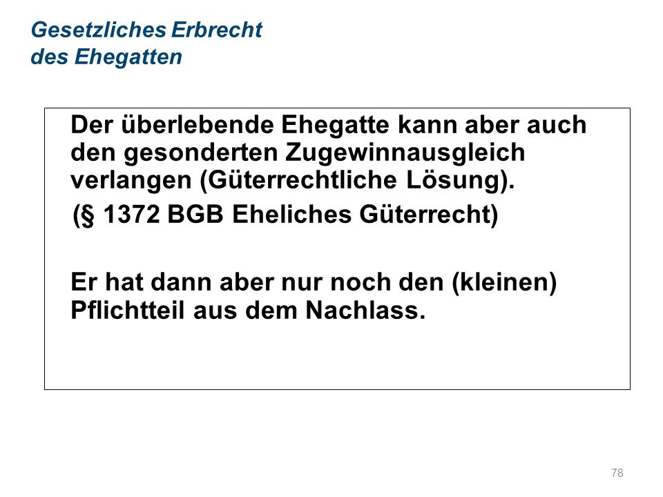 (§ 1372 BGB Eheliches Güterrecht)
