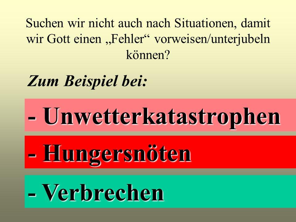 - Unwetterkatastrophen
