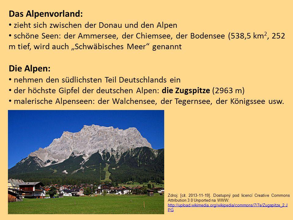Das Alpenvorland: Die Alpen: