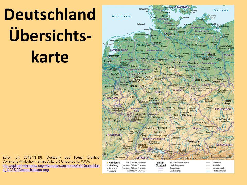 Deutschland Übersichts-karte