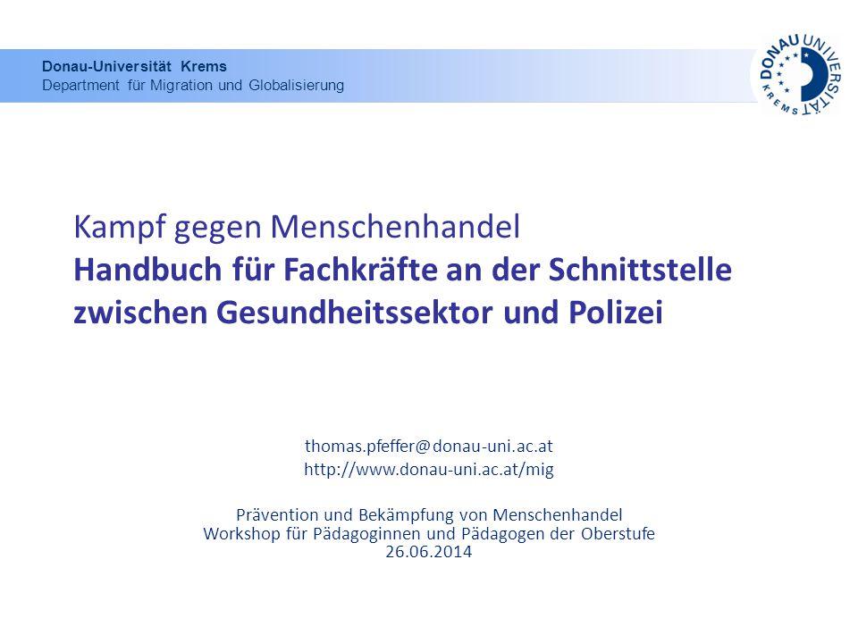 Donau-Universität Krems Department für Migration und Globalisierung