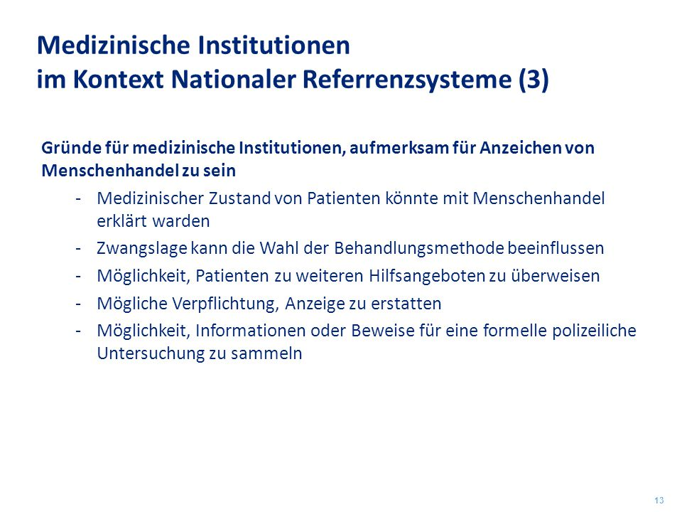 Medizinische Institutionen im Kontext Nationaler Referrenzsysteme (3)