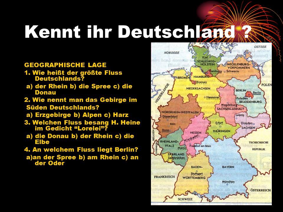 Kennt ihr Deutschland GEOGRAPHISCHE LAGE