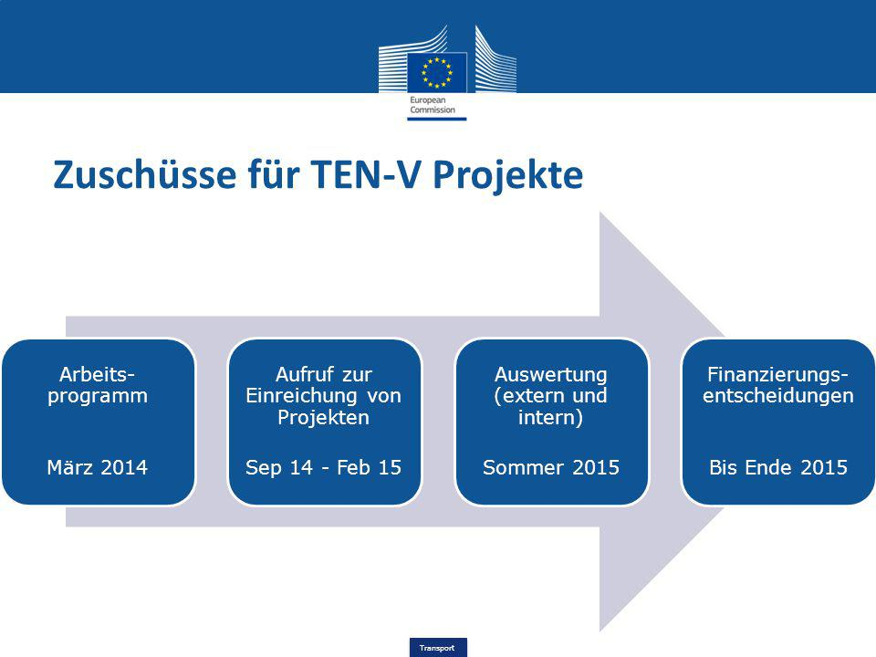 Zuschüsse für TEN-V Projekte