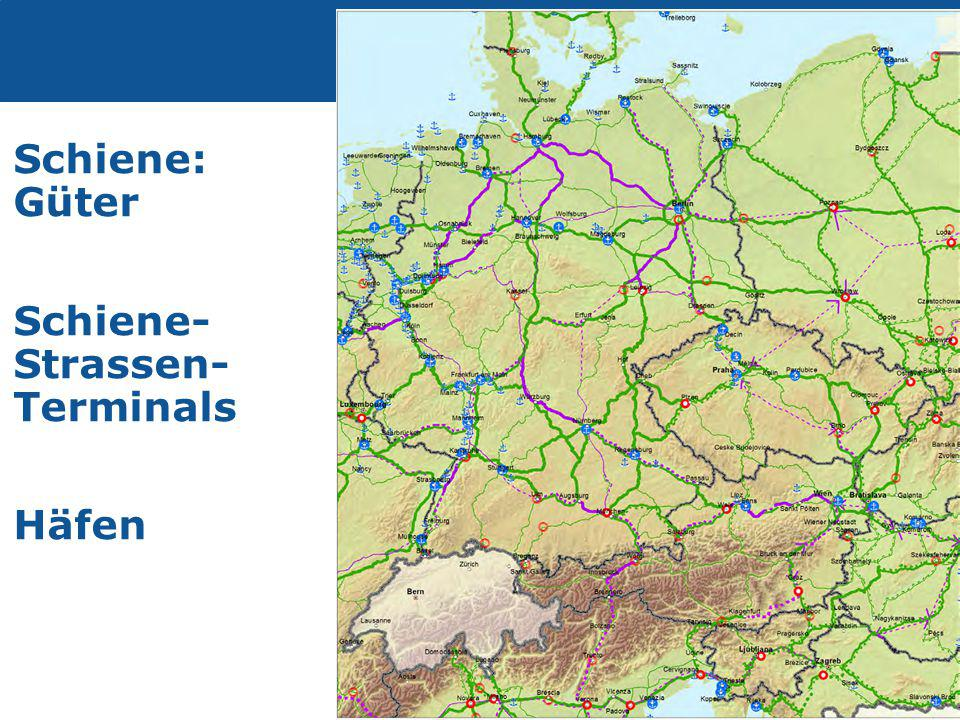 Schiene: Güter Schiene- Strassen- Terminals Häfen