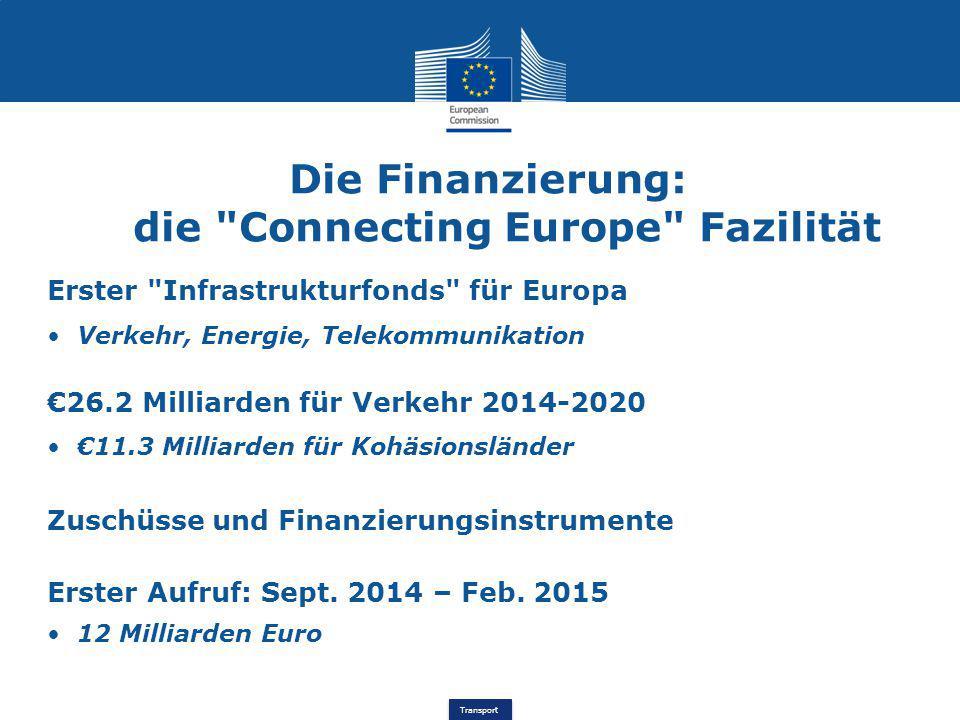 Die Finanzierung: die Connecting Europe Fazilität