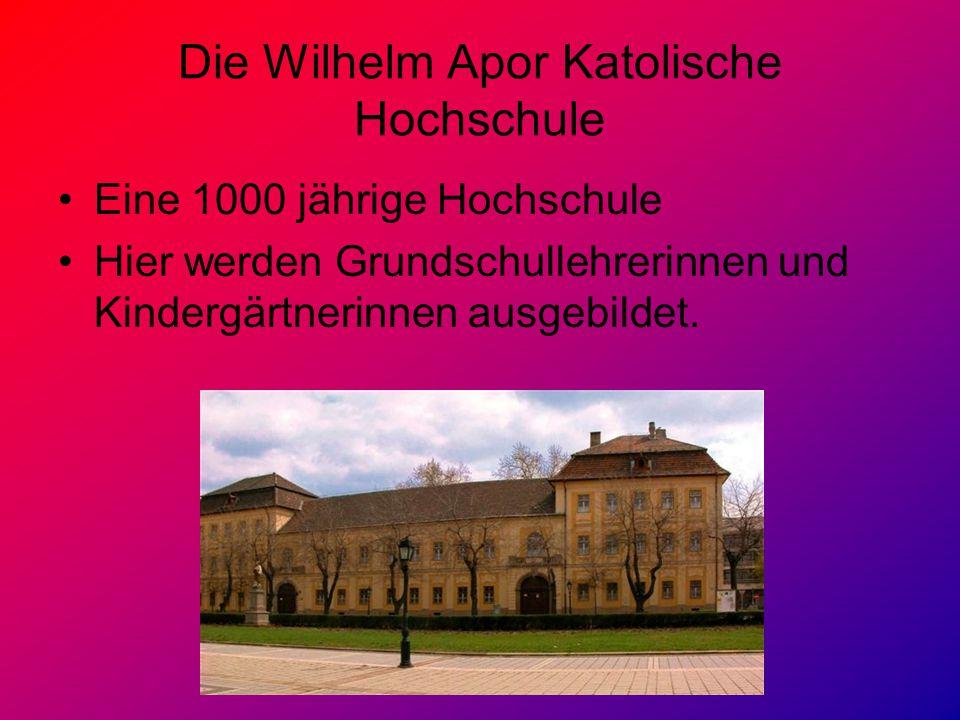 Die Wilhelm Apor Katolische Hochschule
