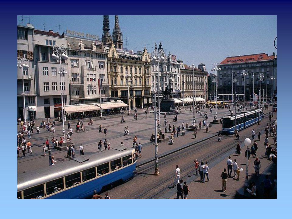 """Zagreb (deutsch auch Agram, ungarisch Zágráb, vermutlich von """"zagrabiti , deut. """"(Wasser) schöpfen )"""