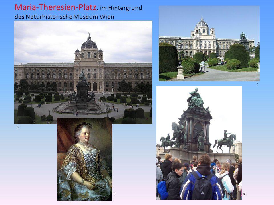 Maria-Theresien-Platz, im Hintergrund das Naturhistorische Museum Wien