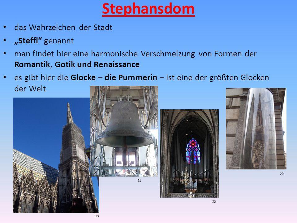 """Stephansdom das Wahrzeichen der Stadt """"Steffl genannt"""