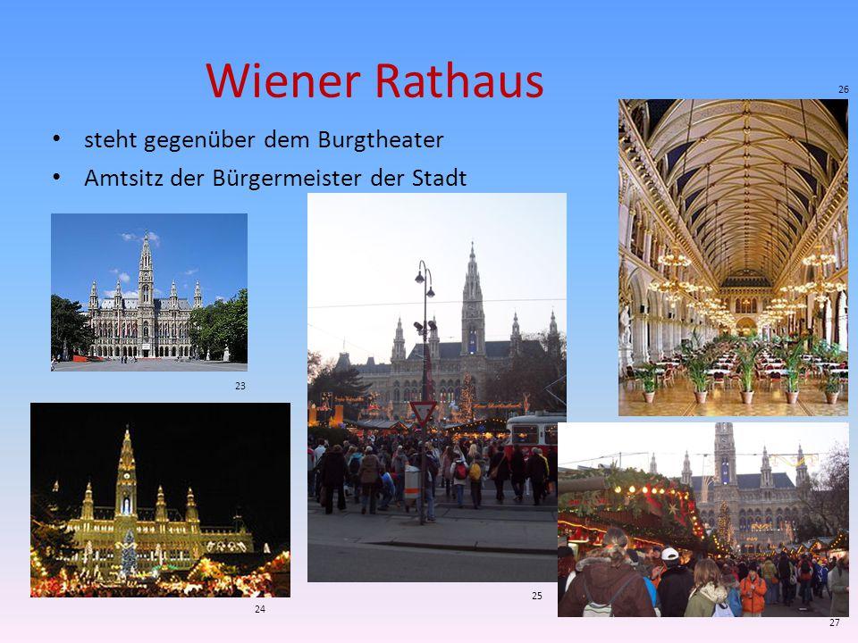 Wiener Rathaus steht gegenüber dem Burgtheater