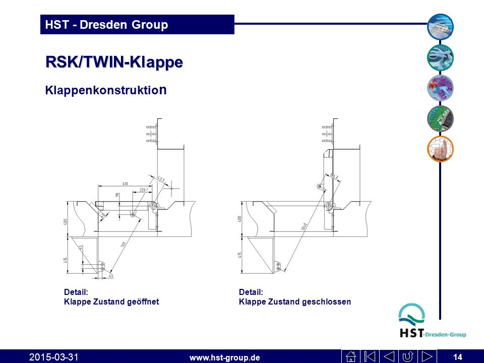 RSK/TWIN-Klappe Klappenkonstruktion 2017-04-09 Detail: