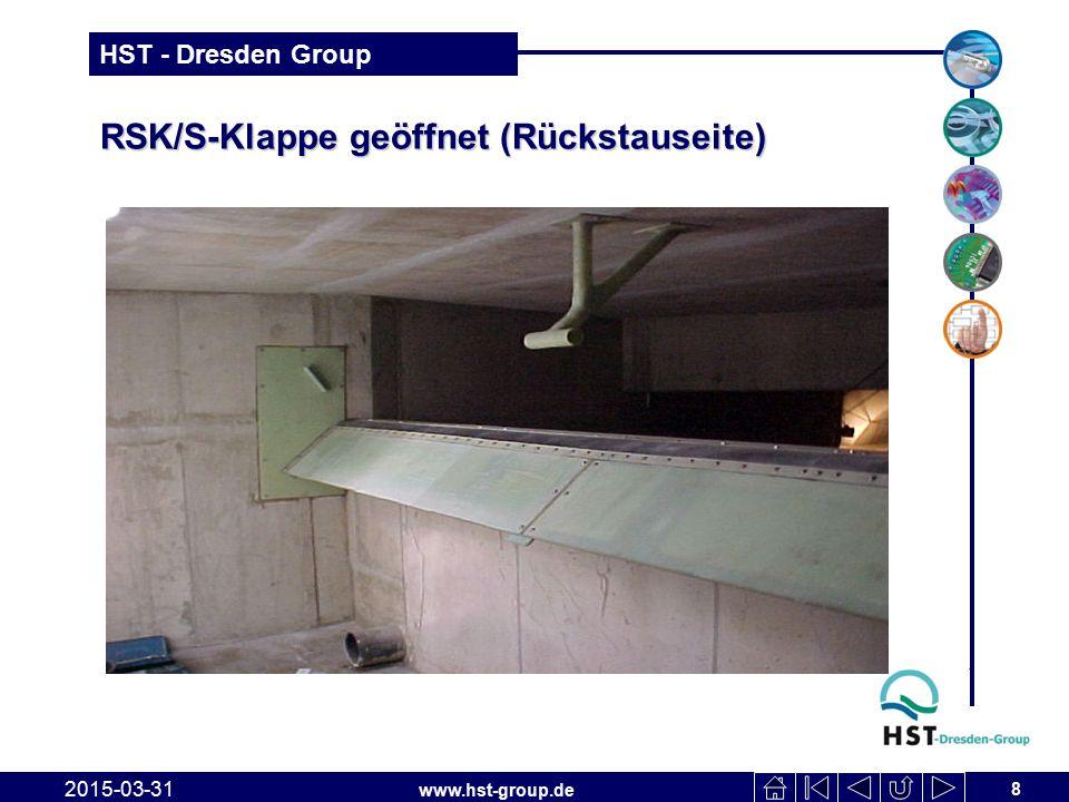 RSK/S-Klappe geöffnet (Rückstauseite)