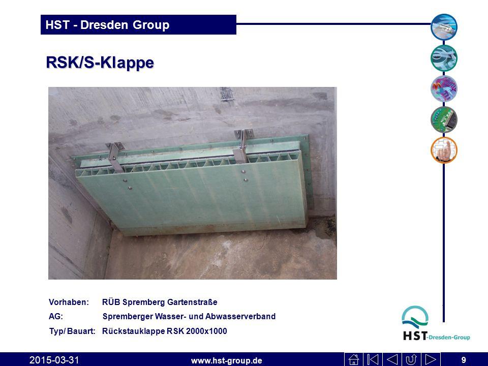 RSK/S-Klappe 2017-04-09 Vorhaben: RÜB Spremberg Gartenstraße