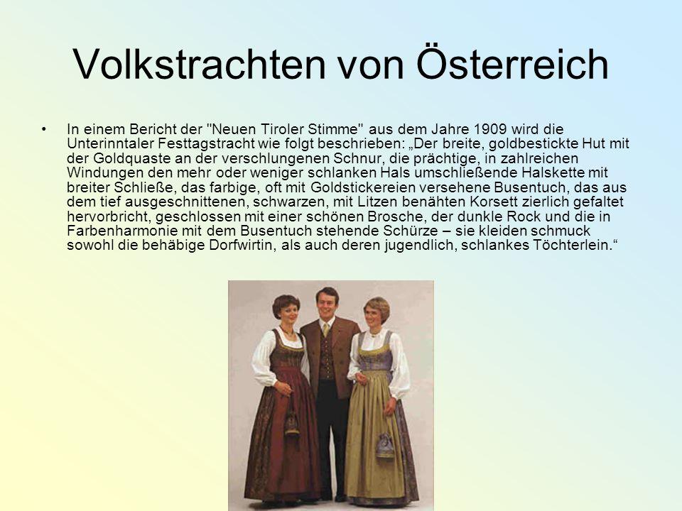 Volkstrachten von Österreich