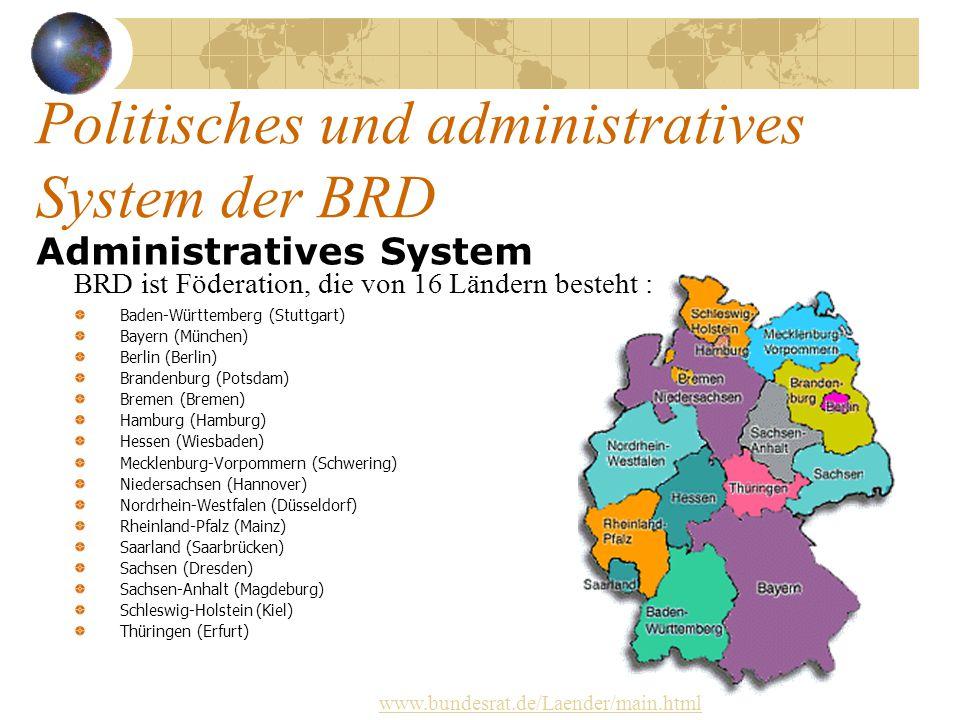 Politisches und administratives System der BRD