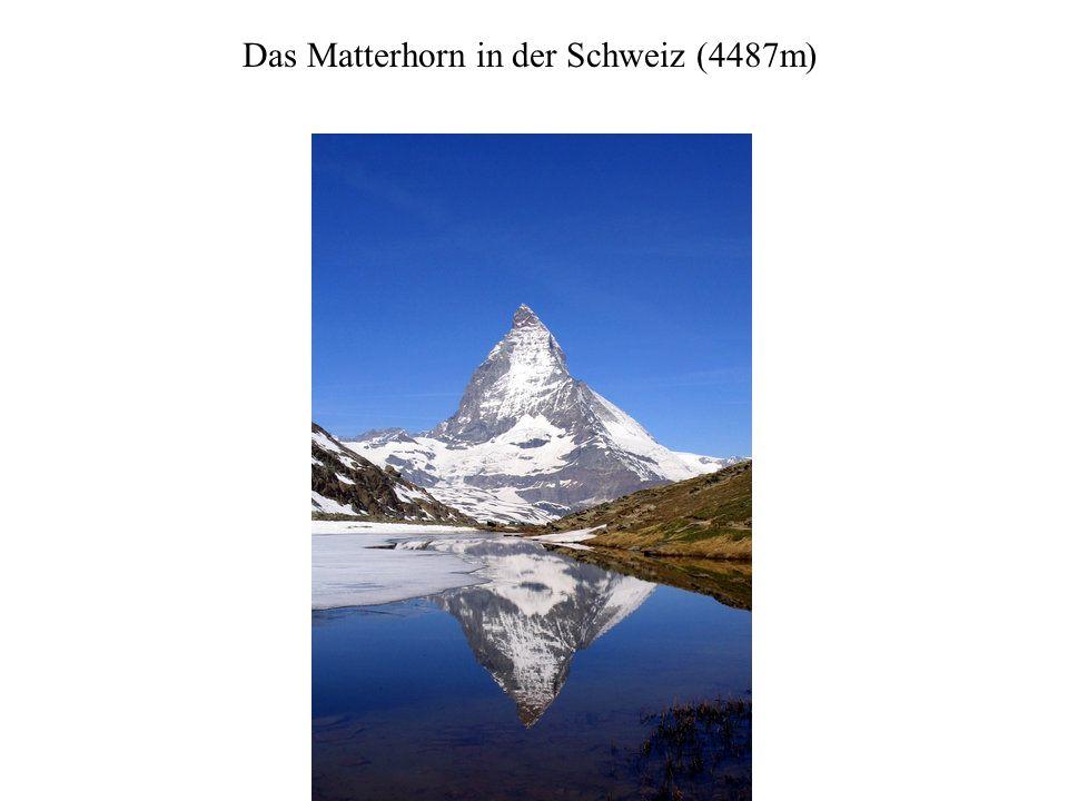 Das Matterhorn in der Schweiz (4487m)
