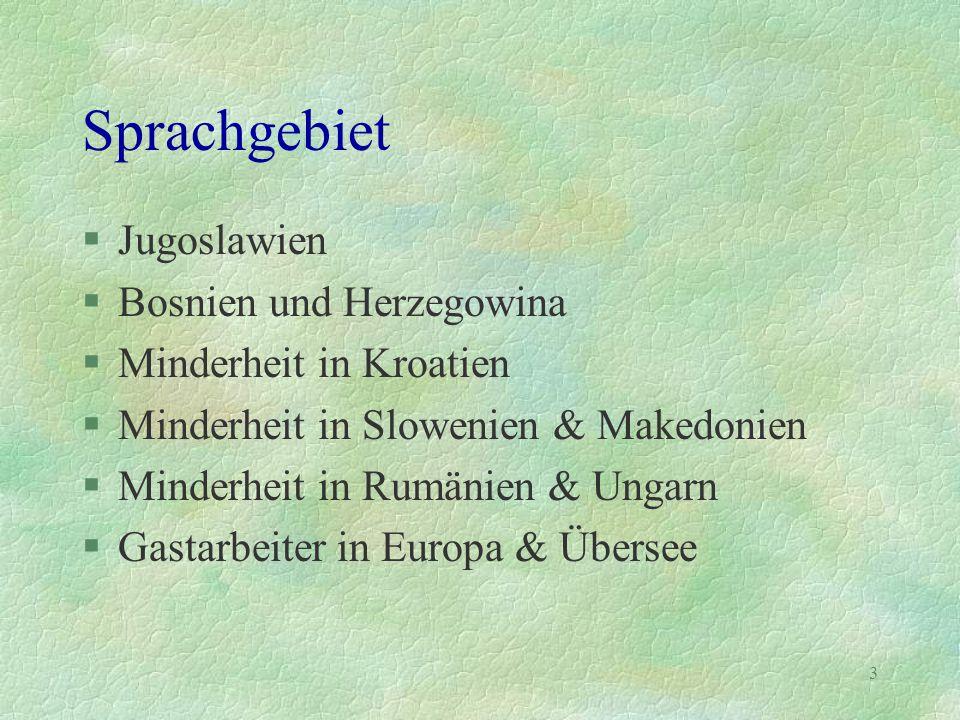 Sprachgebiet Jugoslawien Bosnien und Herzegowina