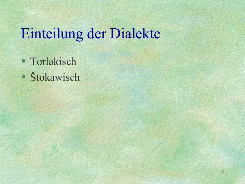 Einteilung der Dialekte