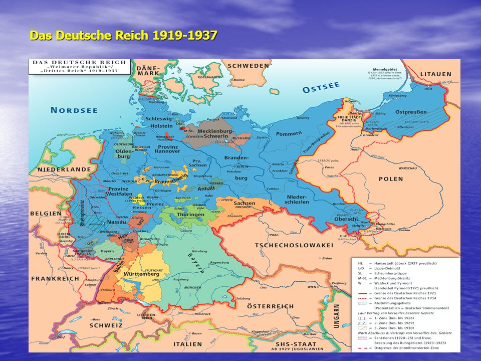 Das Deutsche Reich 1919-1937