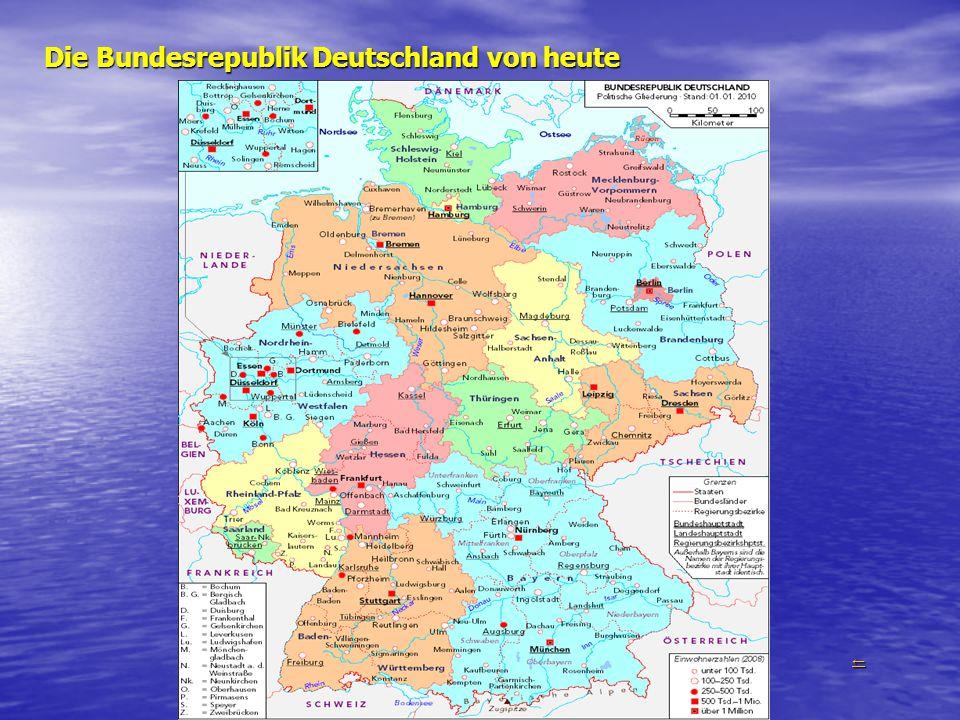 Die Bundesrepublik Deutschland von heute