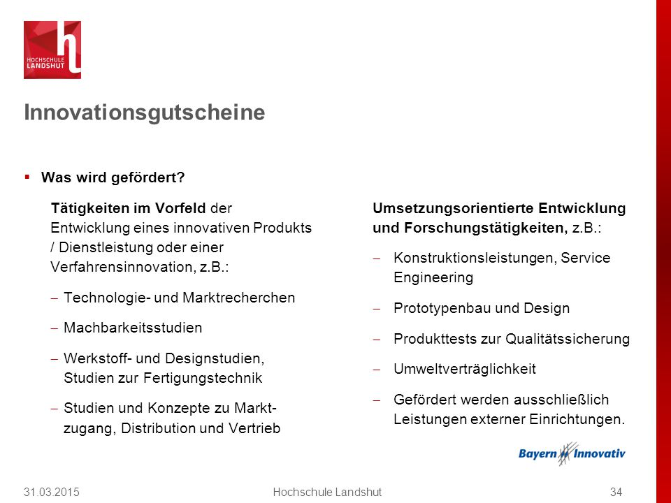 Innovationsgutscheine
