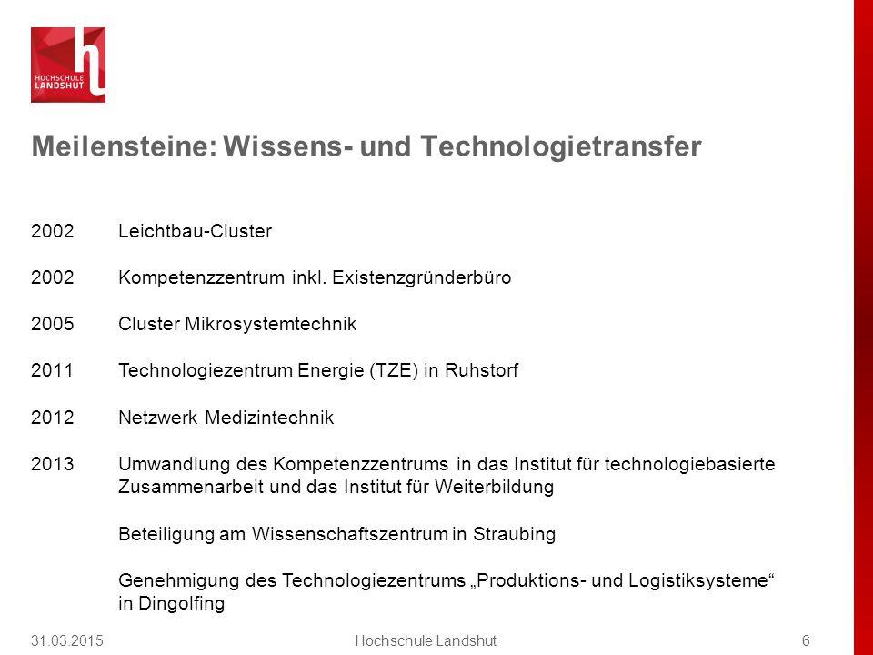 Studienprofil Die Hochschule Landshut steht für exzellente Lehre in