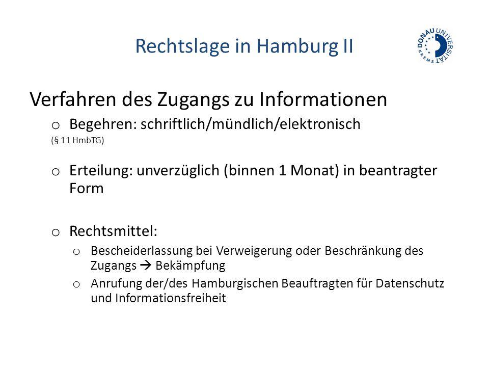 Rechtslage in Hamburg II