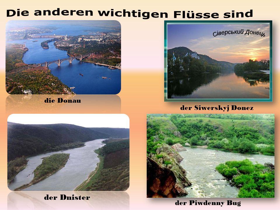 Die anderen wichtigen Flüsse sind