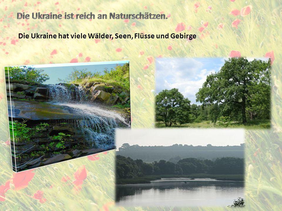 Die Ukraine ist reich an Naturschätzen.