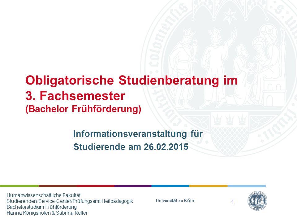 Informationsveranstaltung für Studierende am 26.02.2015