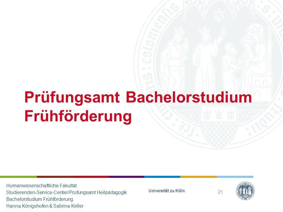 Prüfungsamt Bachelorstudium Frühförderung