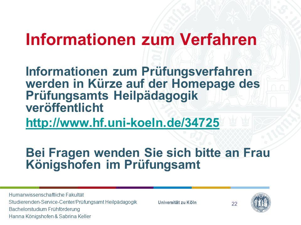 Informationen zum Verfahren