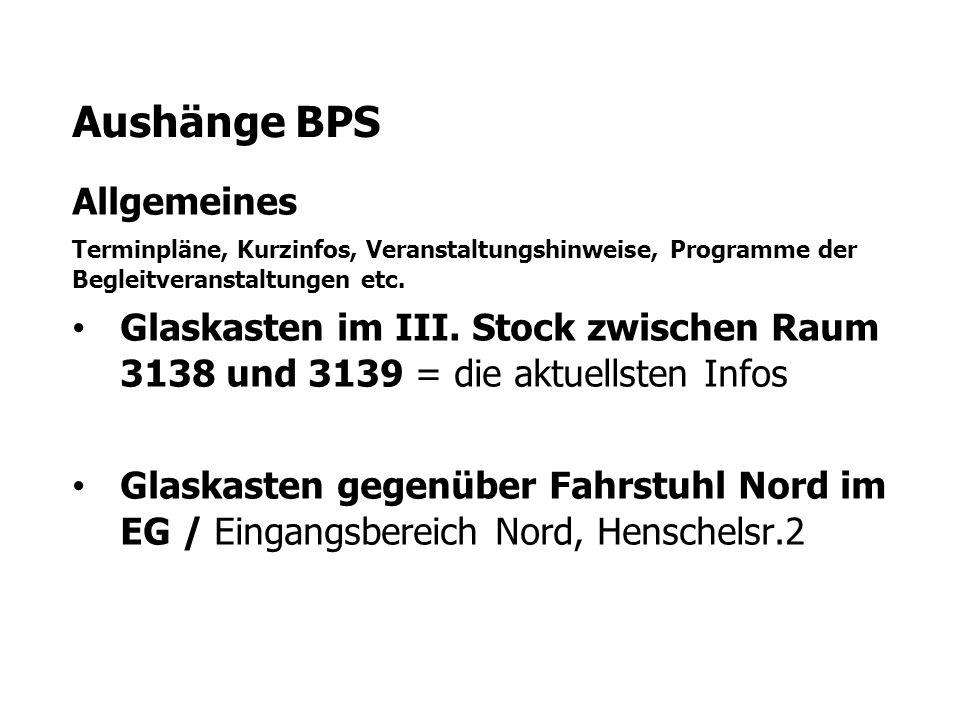 Aushänge BPS Allgemeines