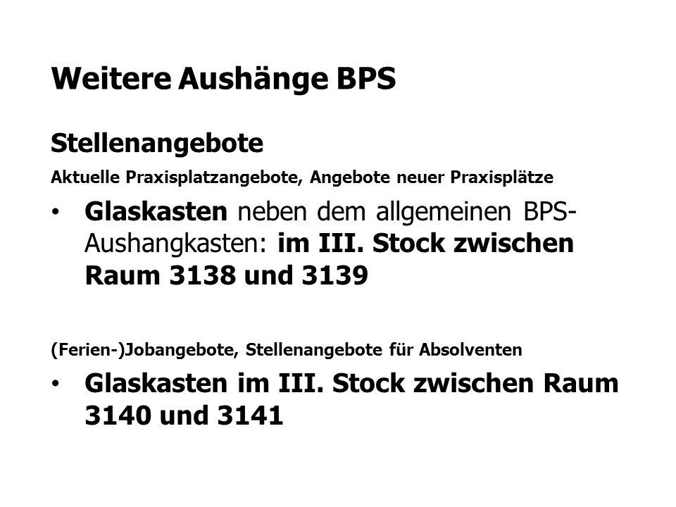 Weitere Aushänge BPS Stellenangebote
