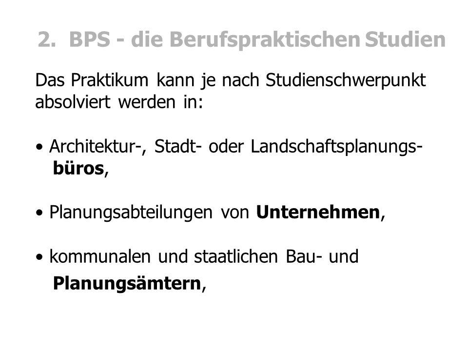 2. BPS - die Berufspraktischen Studien