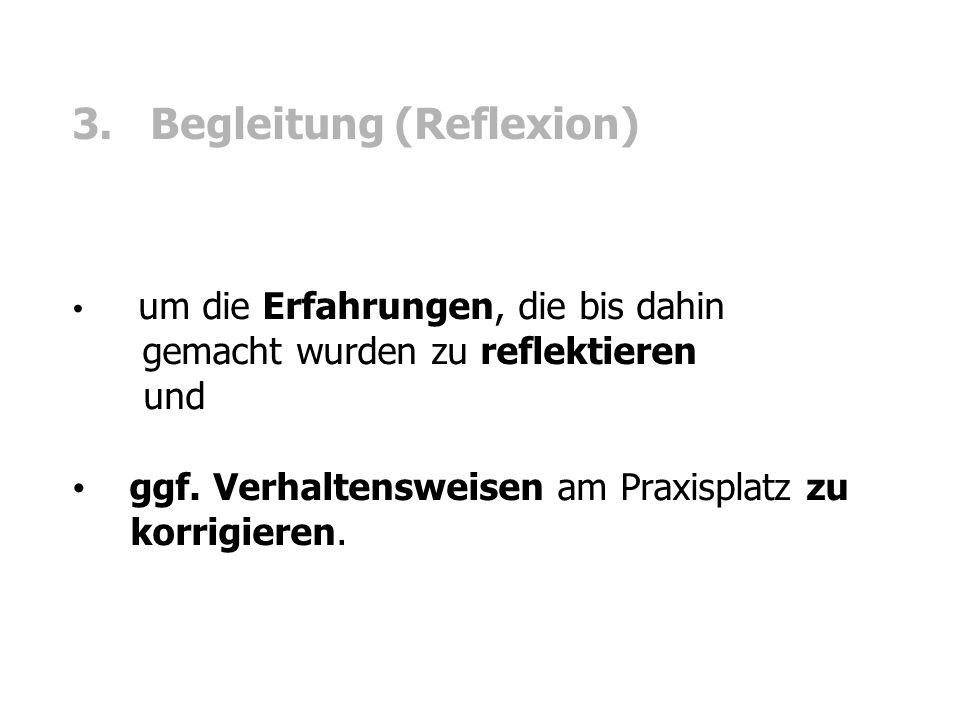 3. Begleitung (Reflexion)