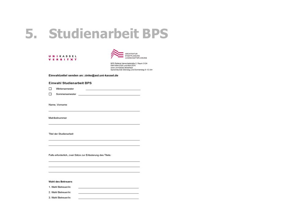 5. Studienarbeit BPS