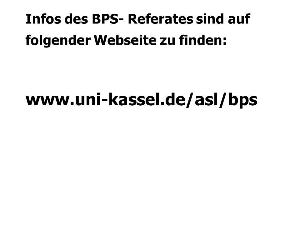 Infos des BPS- Referates sind auf folgender Webseite zu finden: