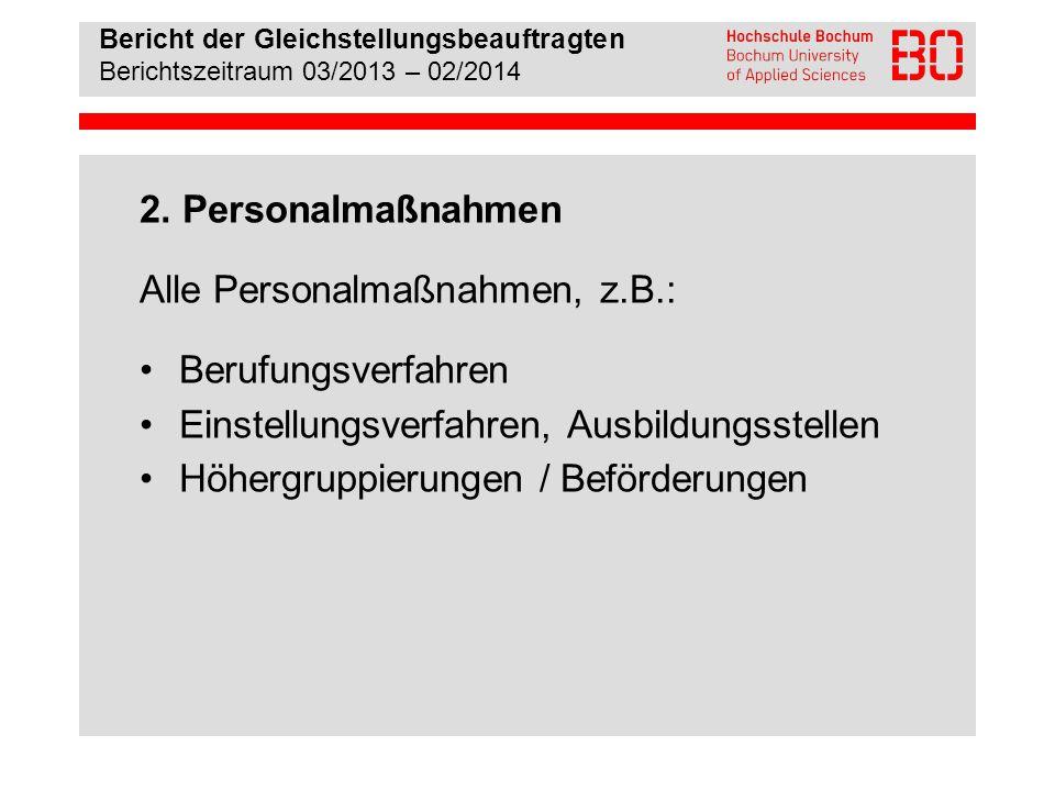 Alle Personalmaßnahmen, z.B.: Berufungsverfahren