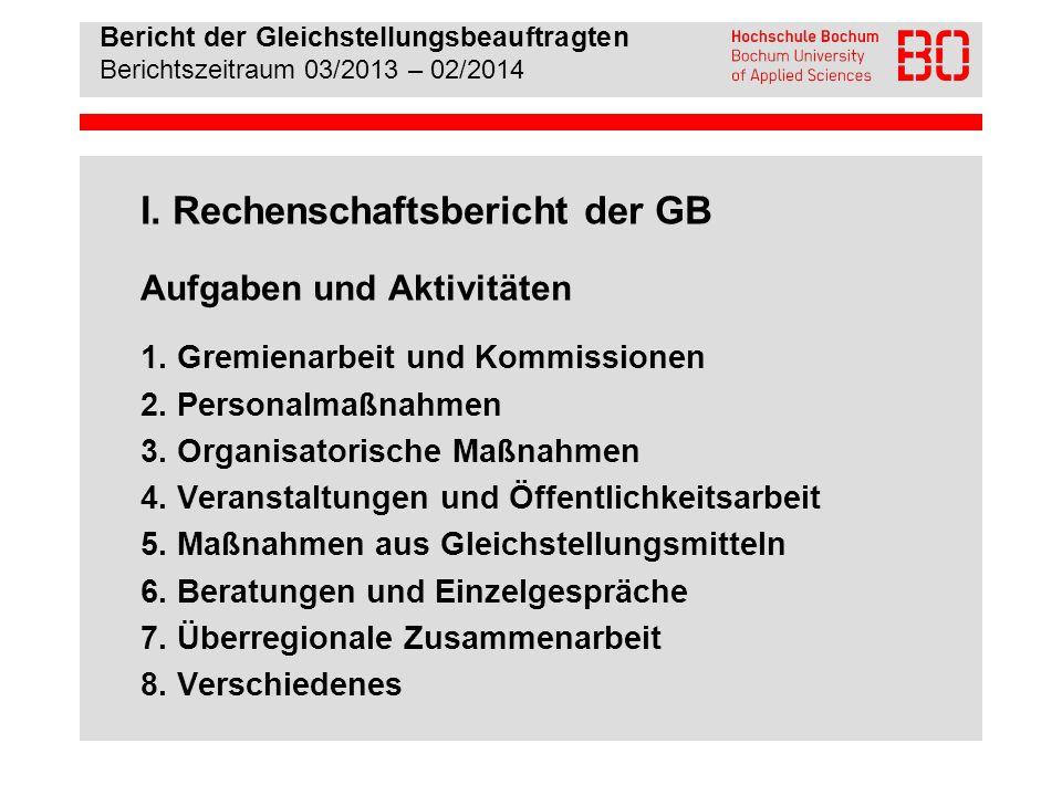 I. Rechenschaftsbericht der GB