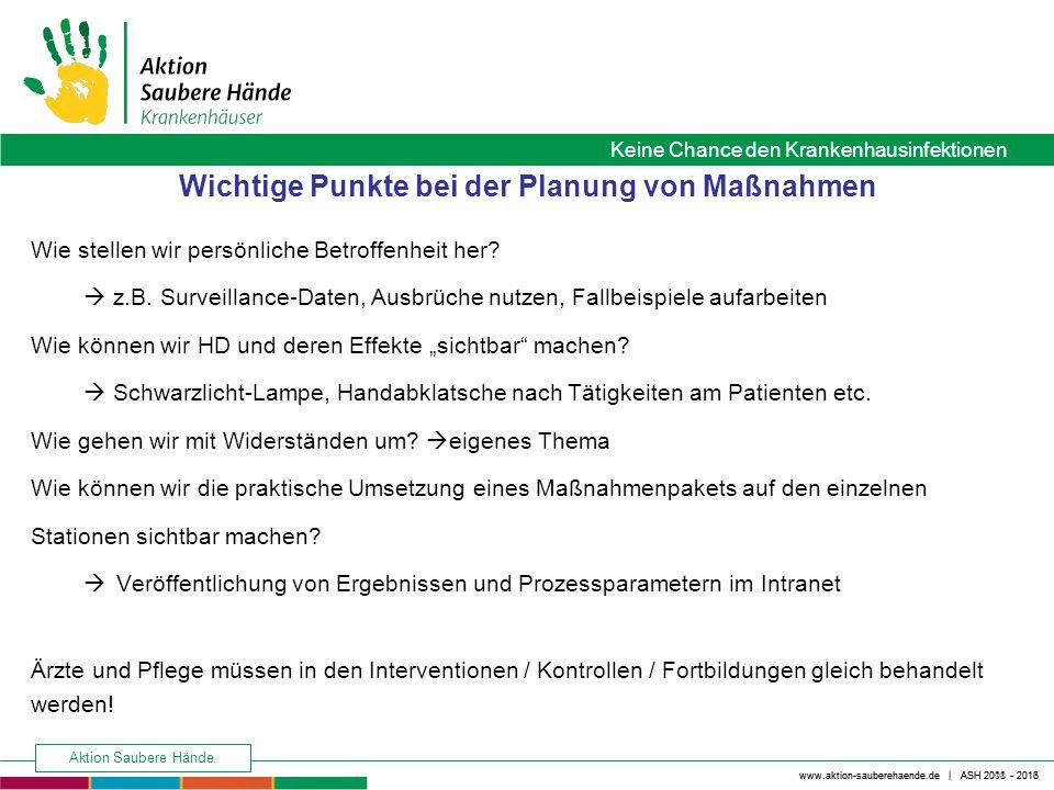 Wichtige Punkte bei der Planung von Maßnahmen