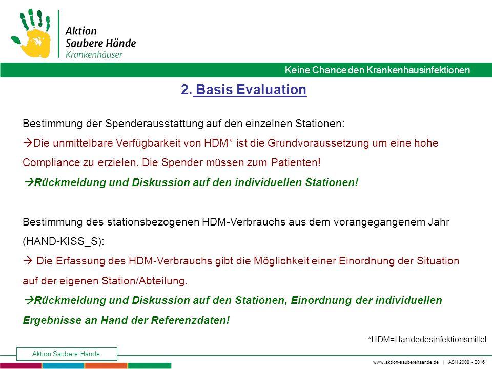 2. Basis Evaluation Bestimmung der Spenderausstattung auf den einzelnen Stationen: