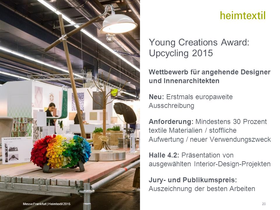 Young Creations Award: Upcycling 2015