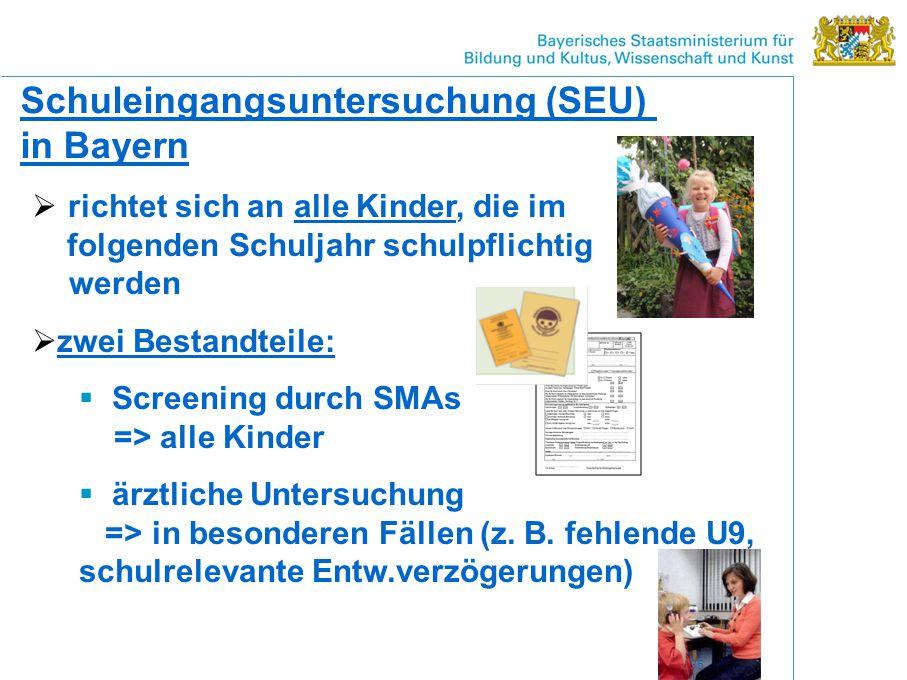 Schuleingangsuntersuchung (SEU) in Bayern