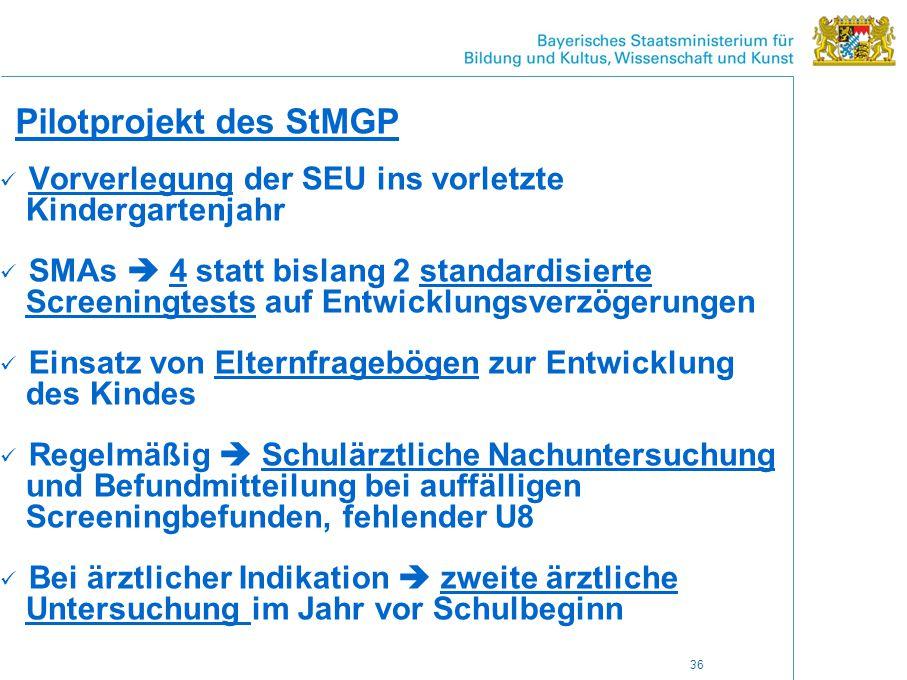 Pilotprojekt des StMGP