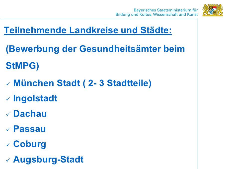 Teilnehmende Landkreise und Städte: