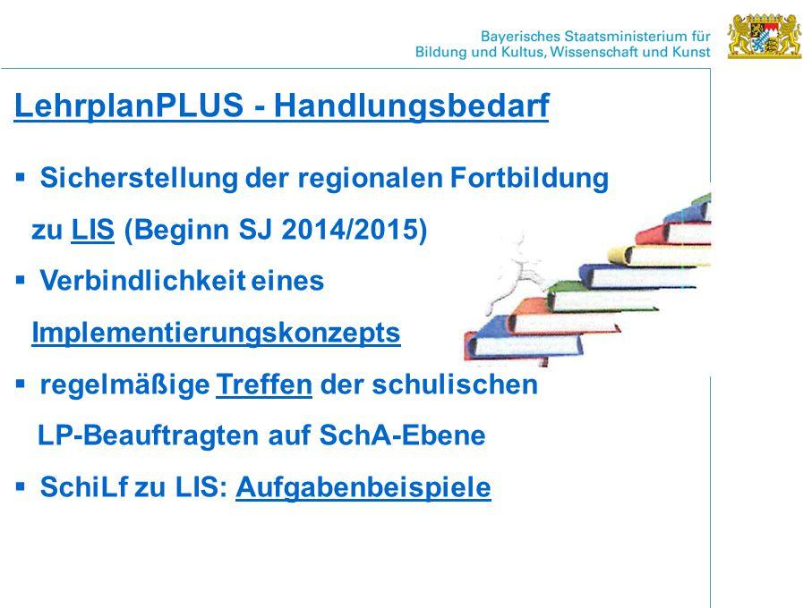 LehrplanPLUS - Handlungsbedarf