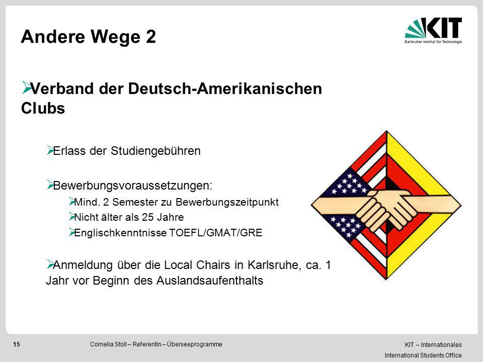 Andere Wege 2 Verband der Deutsch-Amerikanischen Clubs